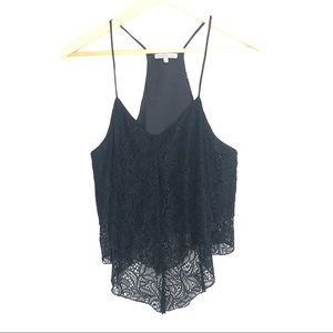 4/$25 Charlotte Russe Black Lace Strappy Croptop